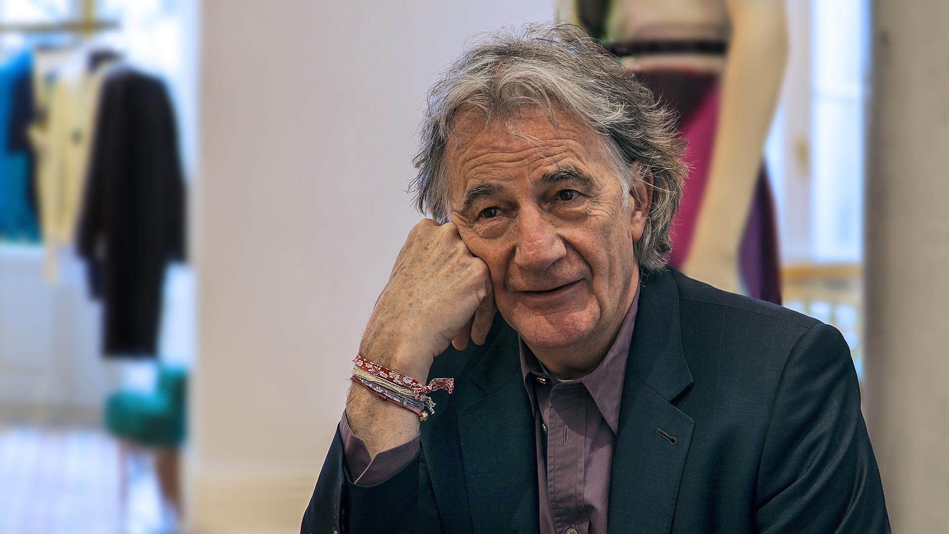 Fashion Designer Paul Smith in seinem Hamburger Biedermeierparadies.